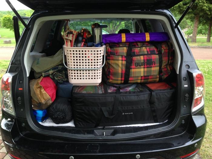 キャンプ時のトランクの状態