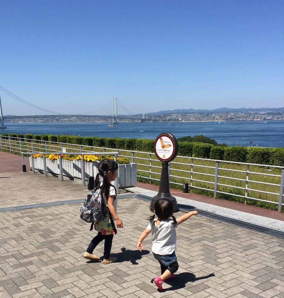淡路島サービスエリア:明石海峡大橋