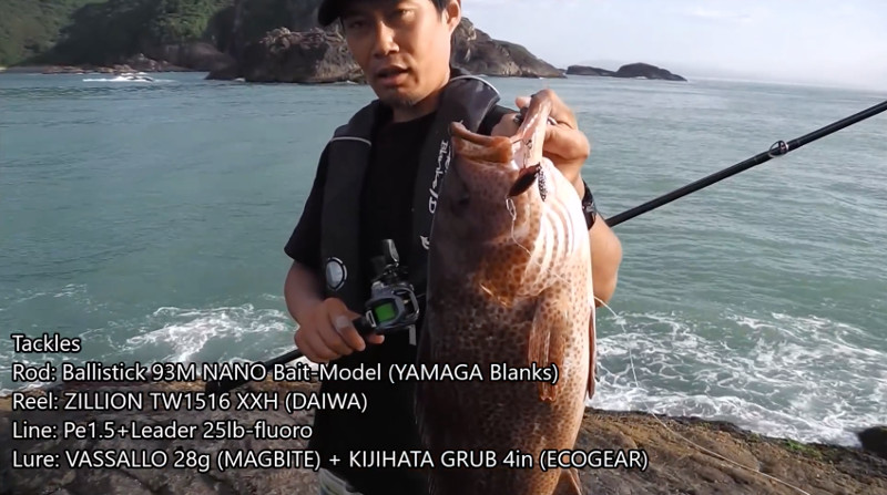 出典:使用タックル:バリスティック 93M ナノ(ベイトモデル)