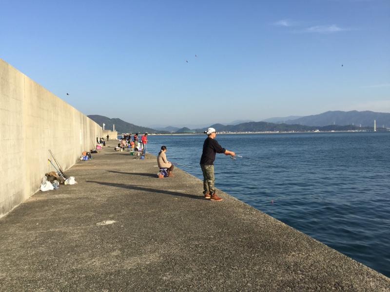 田ノ浦漁港の外向き堤防(東側向き)