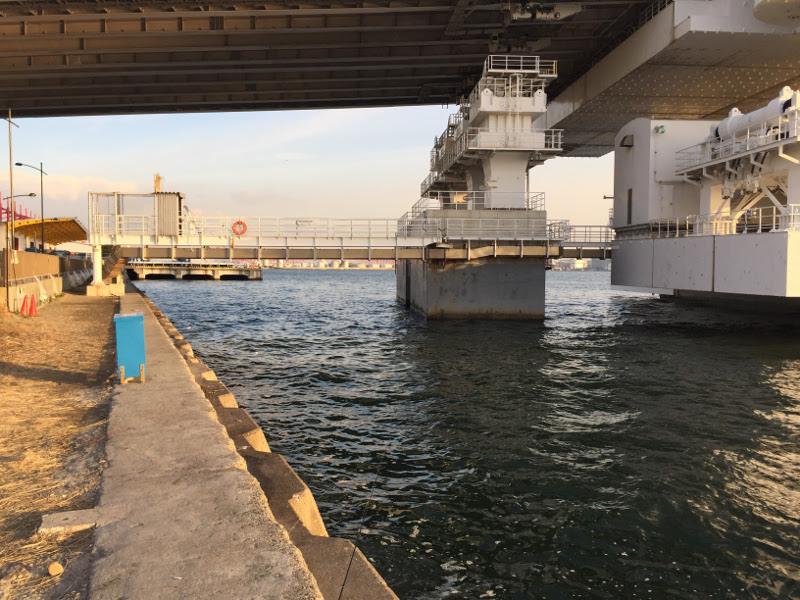 橋の下も人がいない