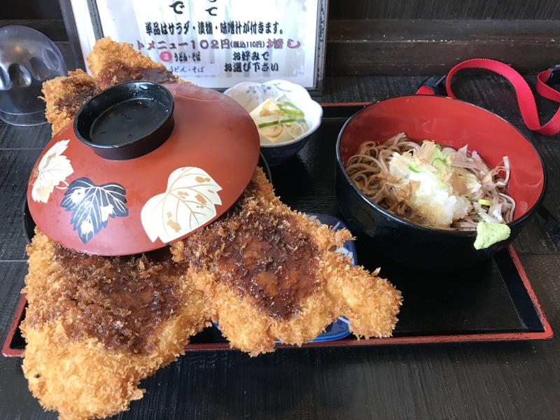 こだま食堂「わらじカツ丼」