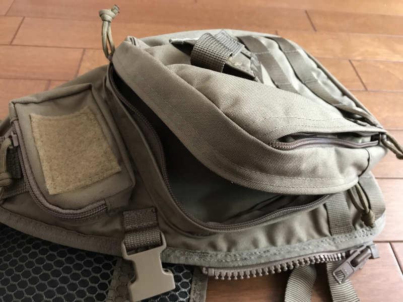 サブロック v-one vest:前面左ポケット部分(2)