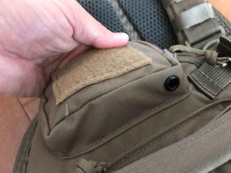 サブロック v-one vest:ミニポケット下部にある水抜き穴