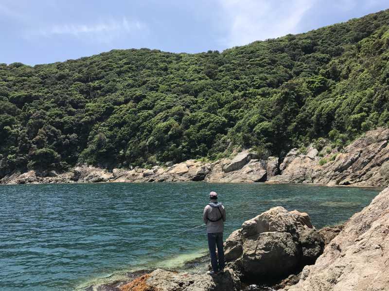 和歌山県中紀にある黒島の磯
