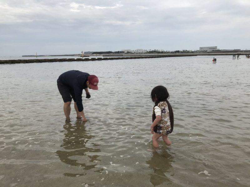 二色浜で潮干狩り
