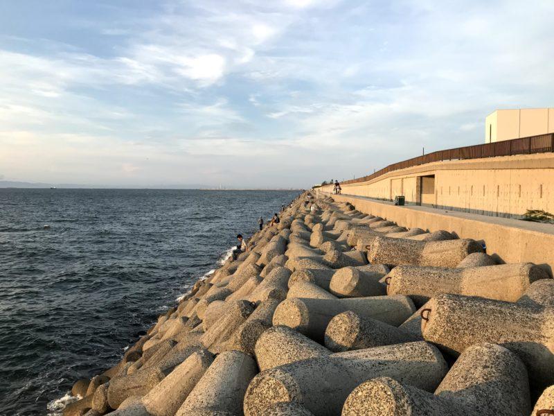 貝塚人工島(北向き)