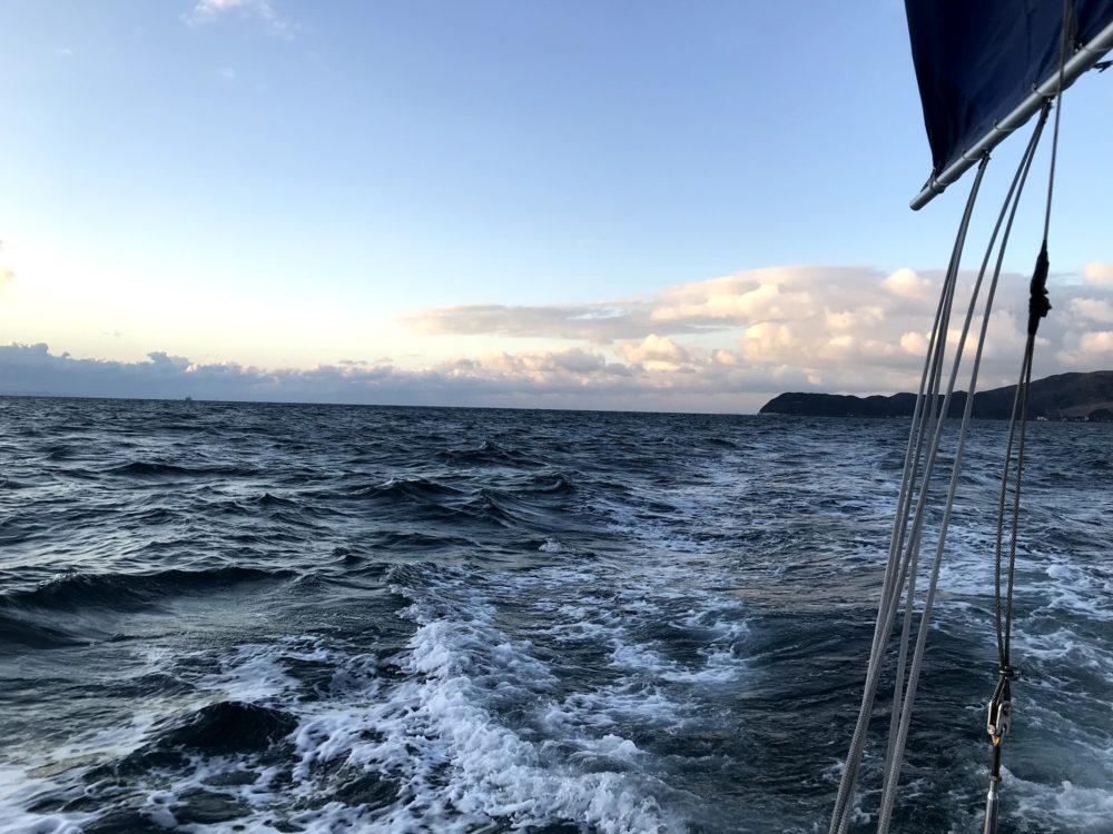 極寒の大阪湾
