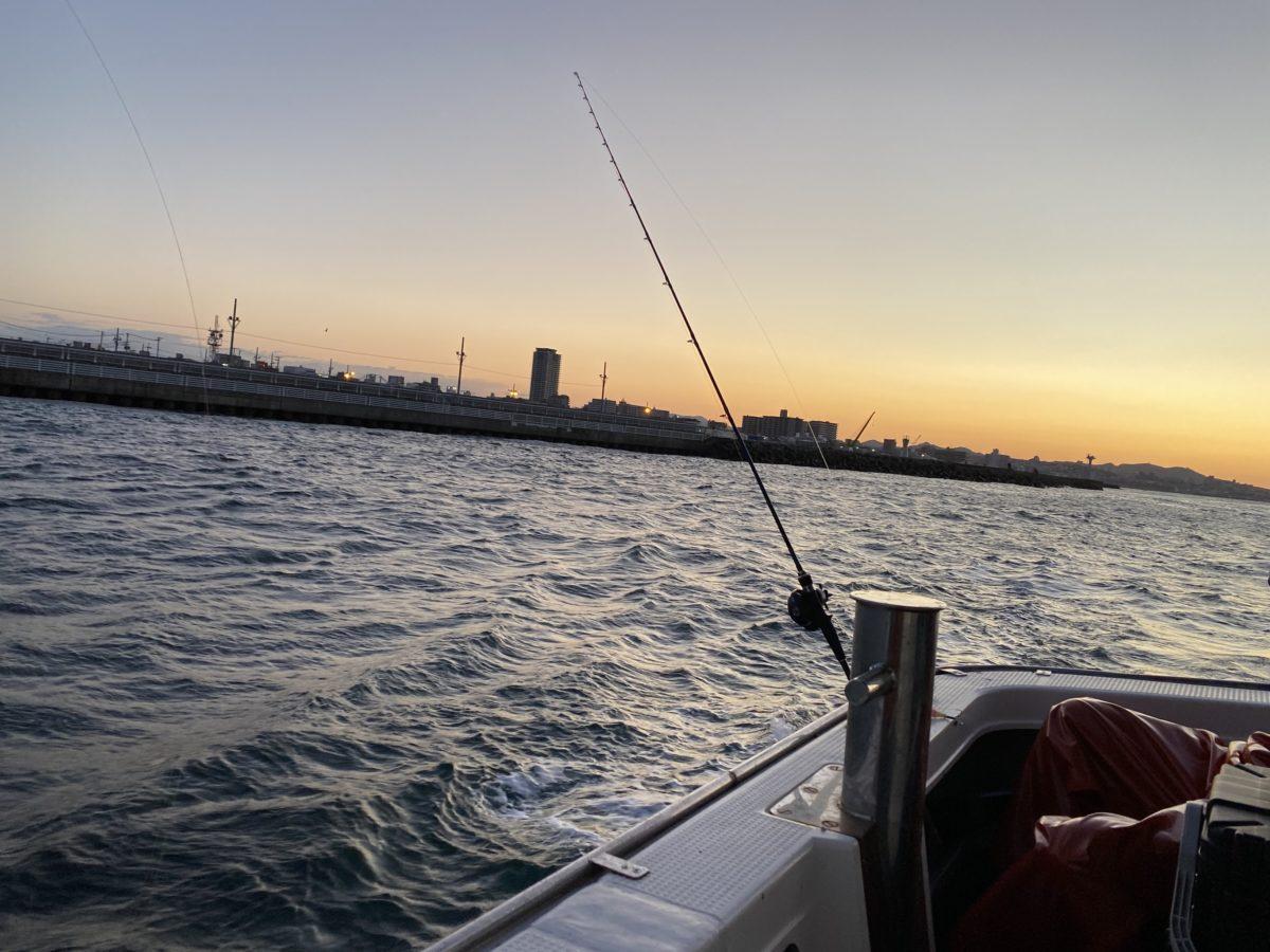 強風・波浪の明石タコ釣り